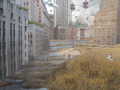 Flooded New York