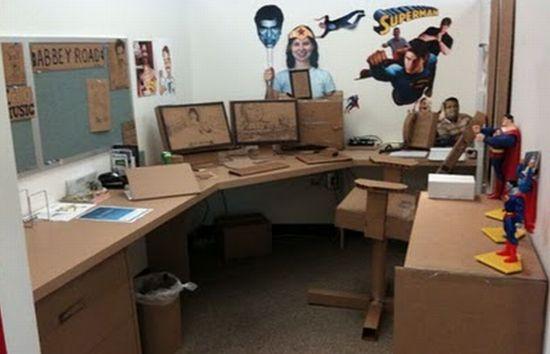 coming cardboard office