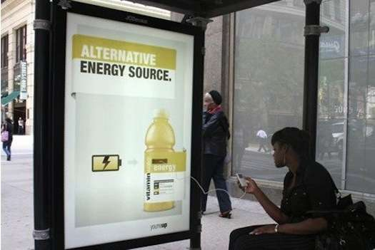 A phone charging digital billboard allows the consumer to interact with the brand in a way that makes their life easier